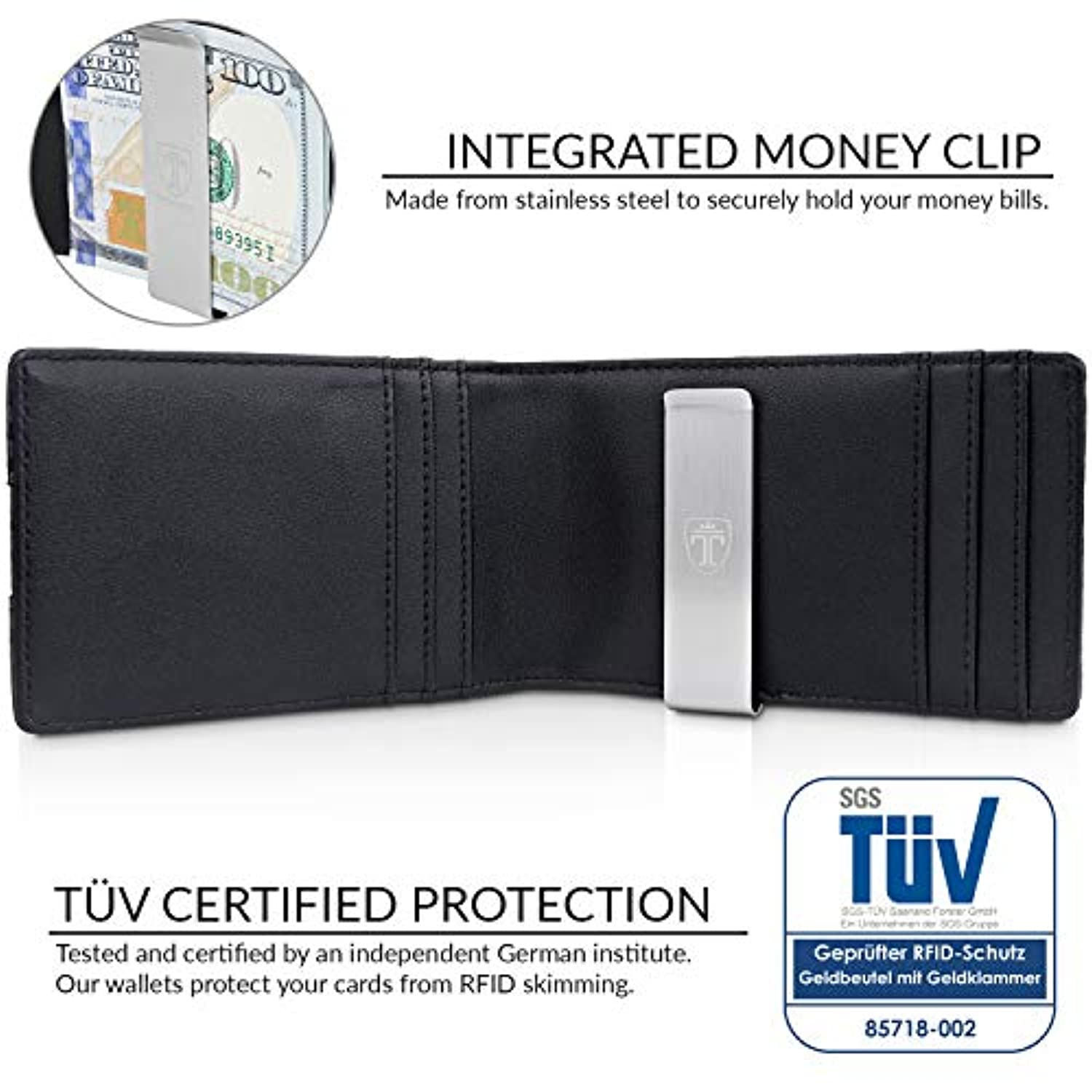 "Classier: Buy TRAVANDO TRAVANDO Money Clip Wallet""RIO"" - Mens Wallets slim Front Pocket RFID Blocking Card Holder Minimalist Mini Bifold Gift Box"