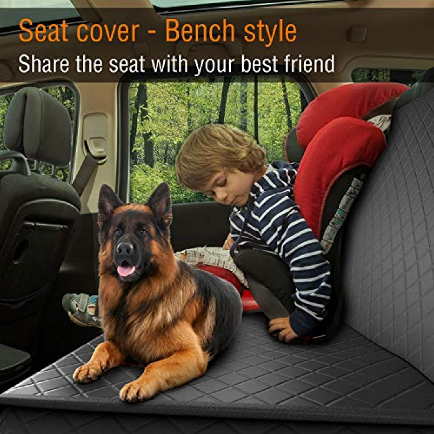 Classier: Buy Active Pets Dog Back Seat Cover Protector Waterproof Scratchproof Nonslip Hammock for Dogs Backseat Protection Against Dirt and Pet Fur Durable Pets Seat Covers for Cars & SUVs