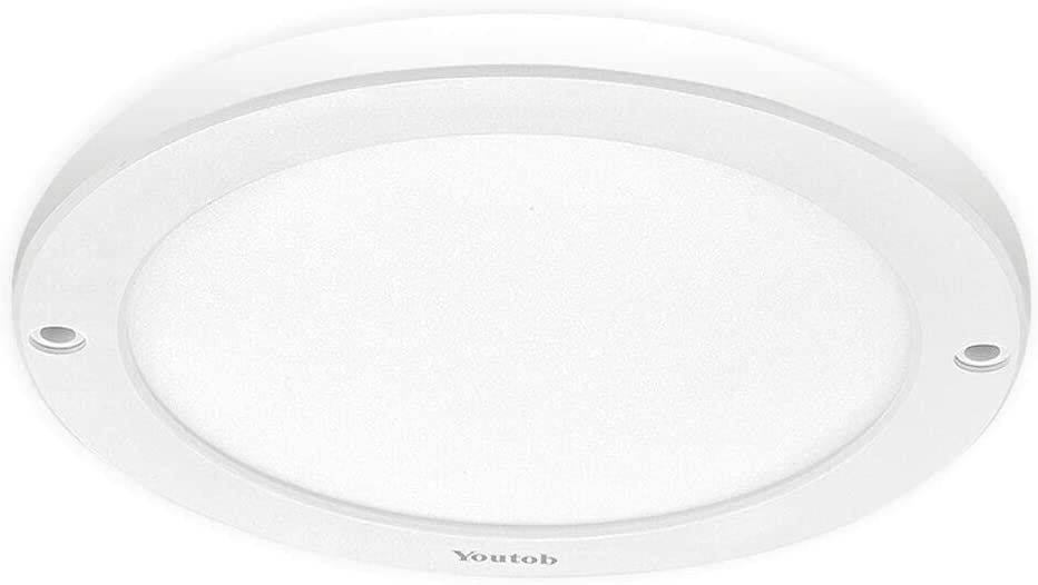 Classier: Buy Youtob Youtob LED Flush Mount Ceiling Light, 15W 100 Watt Equivalent, 1200lm Brushed Silver Round Lighting Fixture for Closets, Kitchens, Stairwells, Basements, Bedrooms, Washrooms (Cool White 4000K)