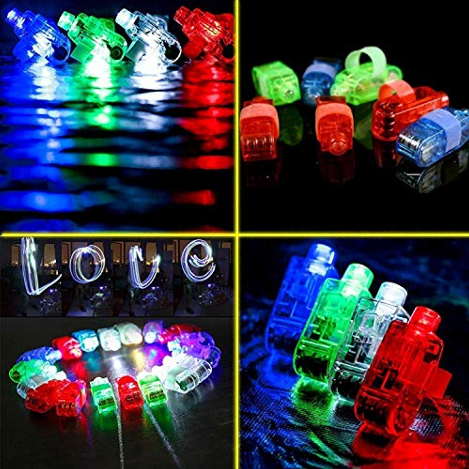 Classier: Buy MIBOTE MIBOTE 67 PCs LED Light Up Toys Party Favors Glow in the Dark Party Supplies for Kid/Adults with 40 Finger Lights, 10 Jelly Rings, 5 Flashing Glasses, 4 Bracelets, 4 Fiber Optic Hair Lights and 4 Crystal Necklaces