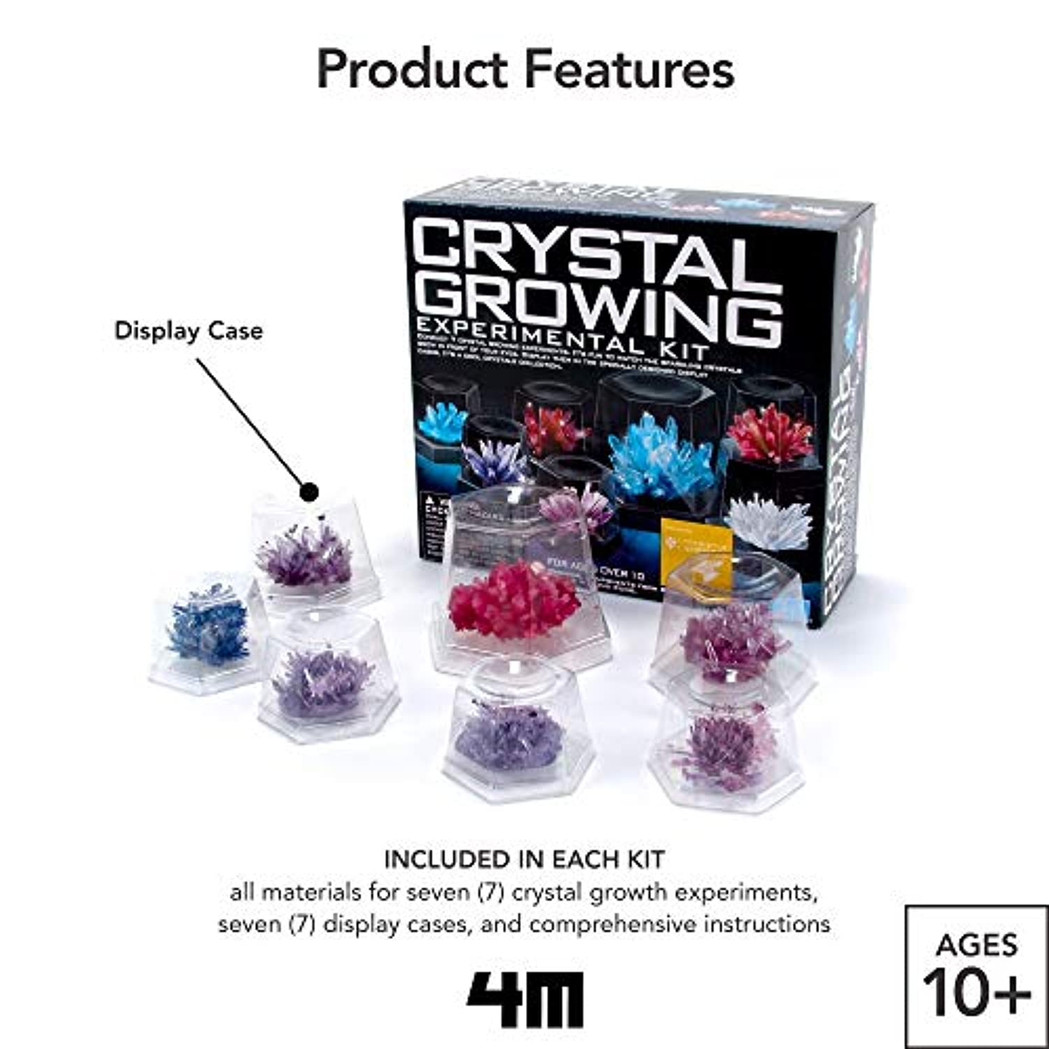 Classier: Buy 4M 4M 5557 Crystal Growing Science Experimental Kit - Easy DIY Stem Toys Lab Experiment Specimens, A Great Educational Gift for Kids & Teens, Boys & Girls