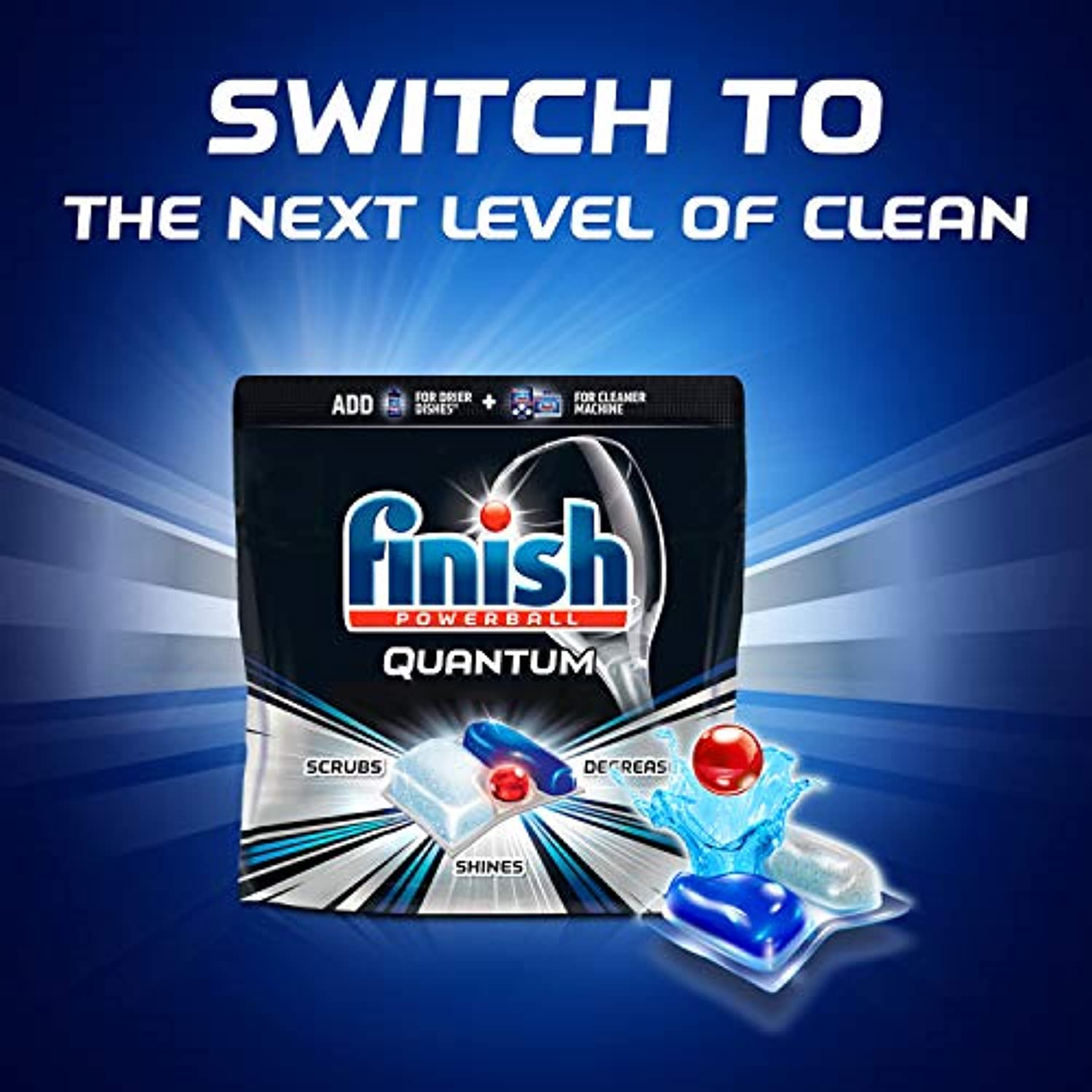 Classier: Buy Finish Dishwasher Detergent - Powerball - Pre Wrapped Dishwashing Tablets