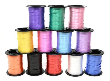 Classier: Buy SN Incorp. Assorted Colors Curling Ribbon 60 Feet Per Roll for Gift Wrapping Art and Crafts and All Occasions - 12 Rolls Per Pack