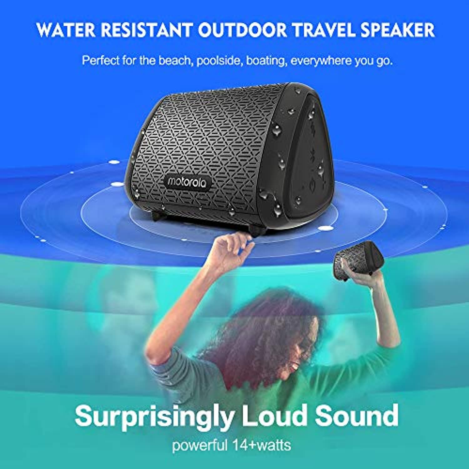 Classier: Buy Motorola Motorola SonicSubs240 Portable Bluetooth Speakers | IPX5 Splash Proof Bluetooth Speaker |11Hours Speaker Compatible with Voice Assistant |Loud Extra Bass Portable Speakers Bluetooth Wireless
