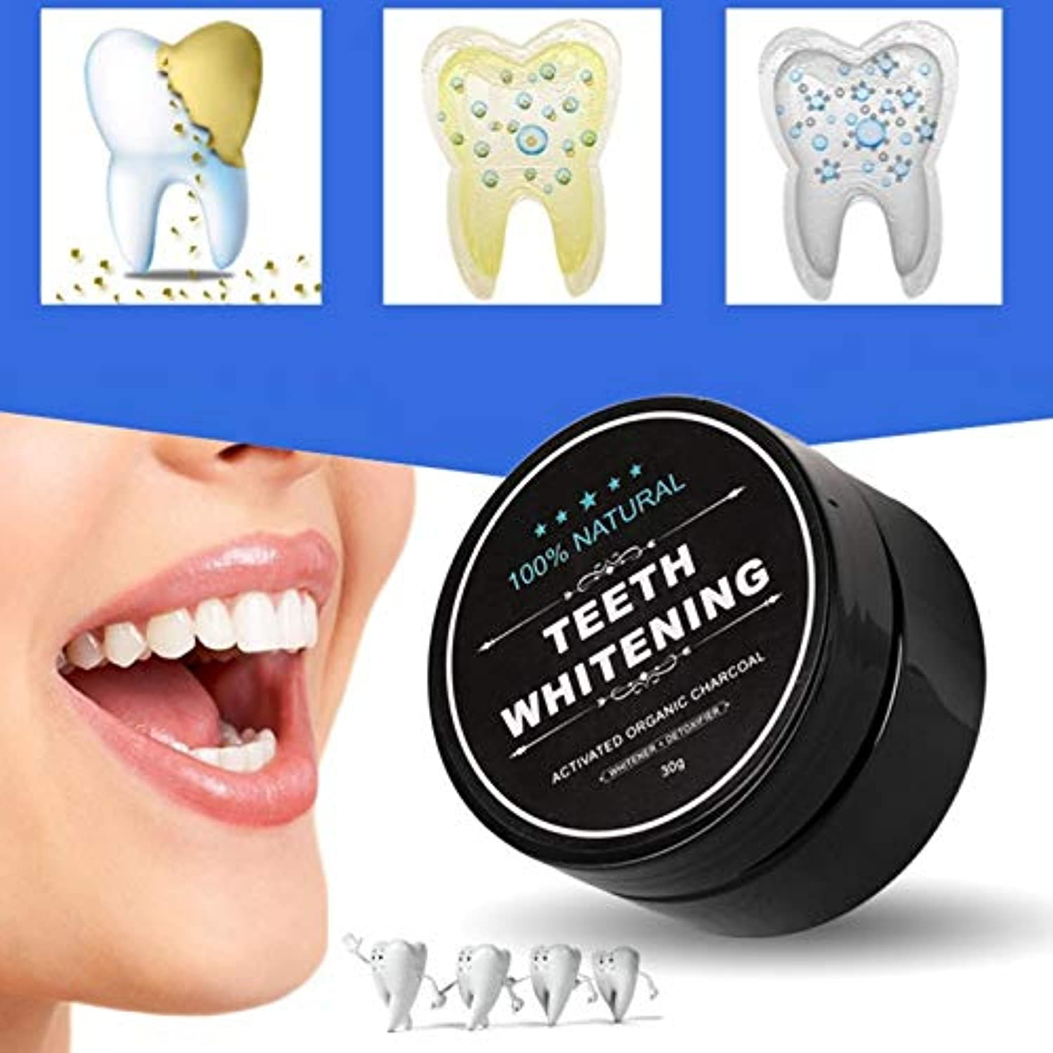 Classier: Buy FOXTSPORT Teeth Whitening Charcoal Powder, Natural Activated Charcoal Teeth Whitener Powder with Bamboo Brush Oral Care Set (1.05 oz)