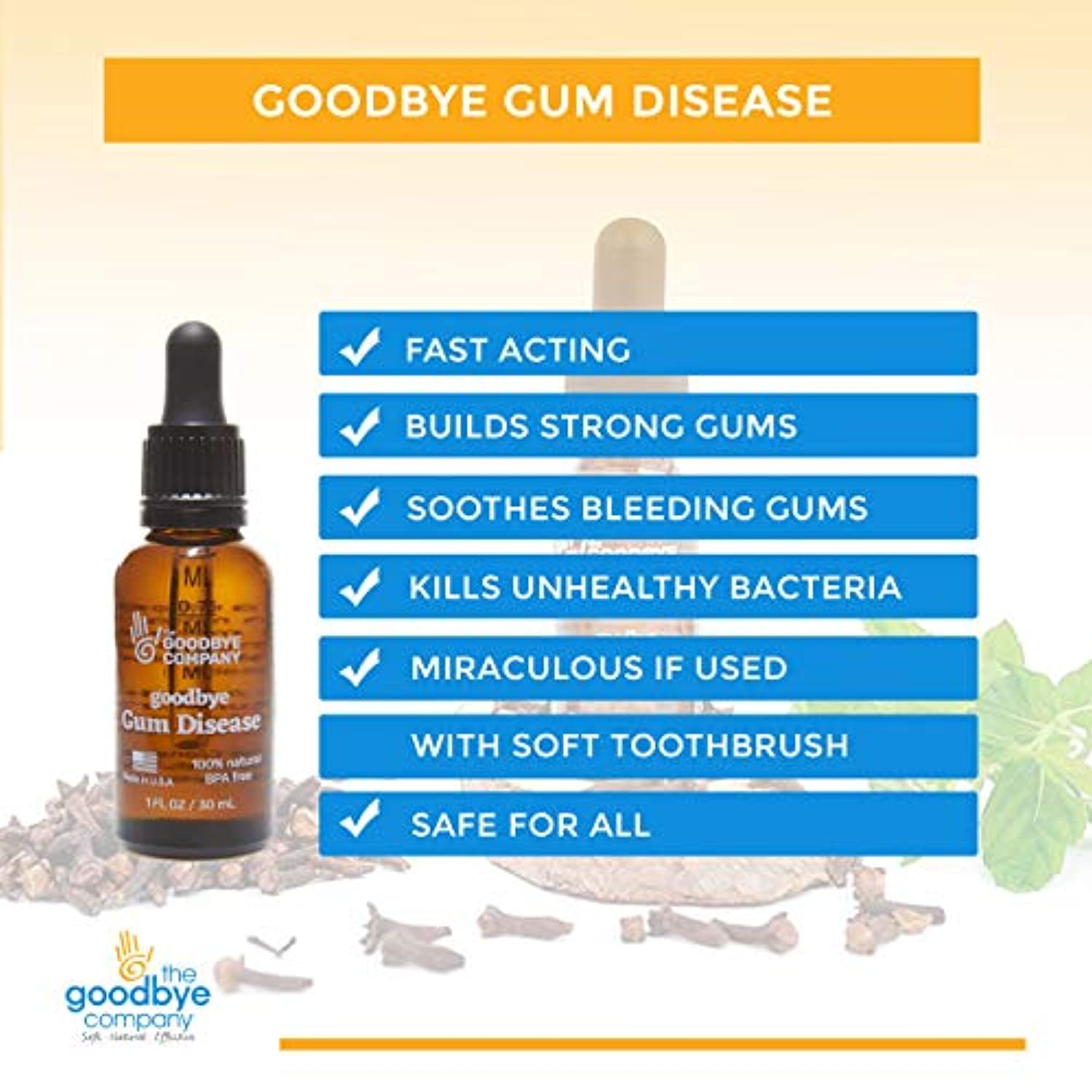 Classier: Buy GoodBye Styes Goodbye Gum Disease - Organic Home Remedy for Oral Gum Disease | 100% Pure Neem and Clove Essential Oils for Oral Care | Effective and Natural Gingivitis Treatment (1 oz)