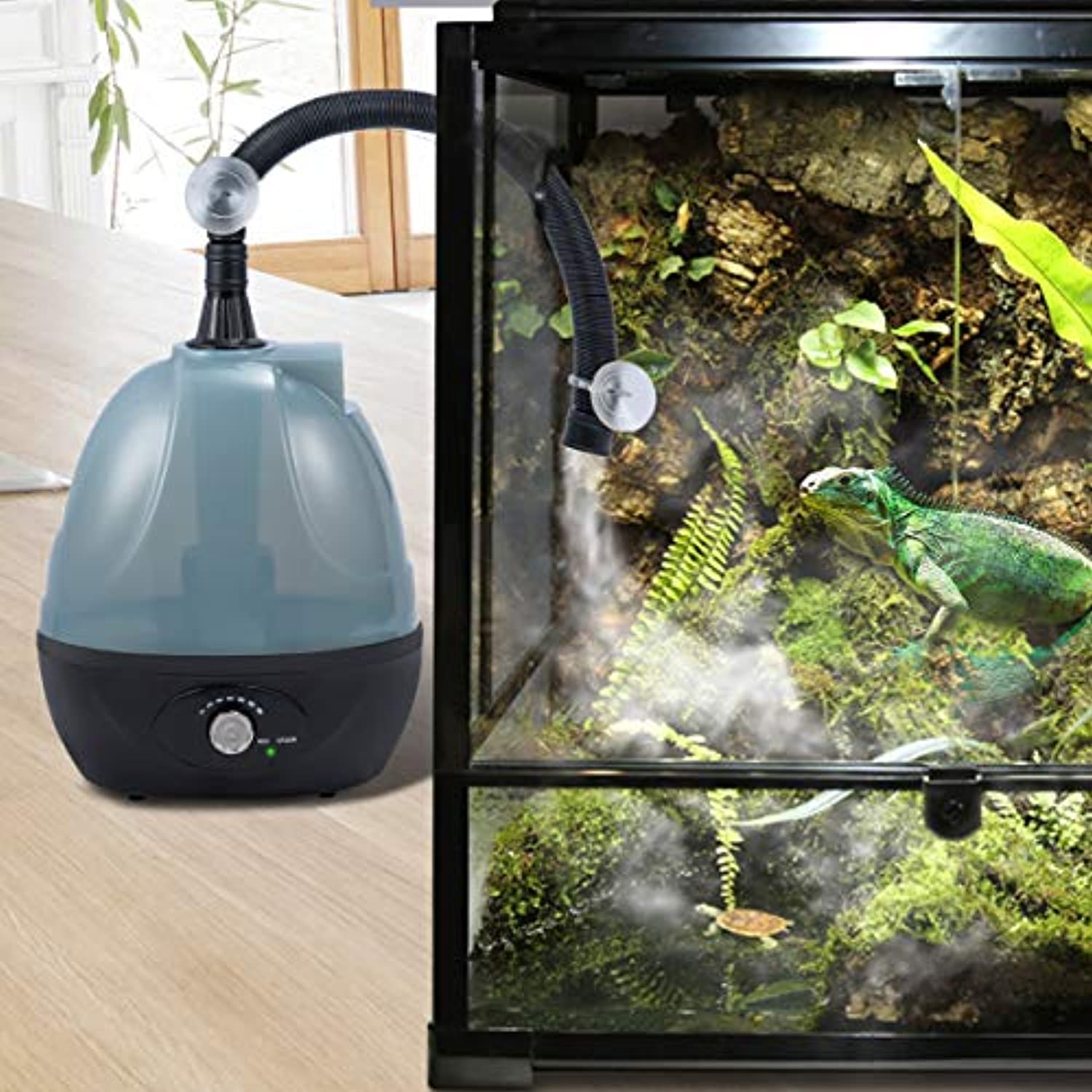 Classier: Buy BETAZOOER BETAZOOER Reptile Humidifier, Reptile Fogger with Extension Tube, Suitable for Reptiles Amphibians and Terrarium (2.5 Liter Tank)