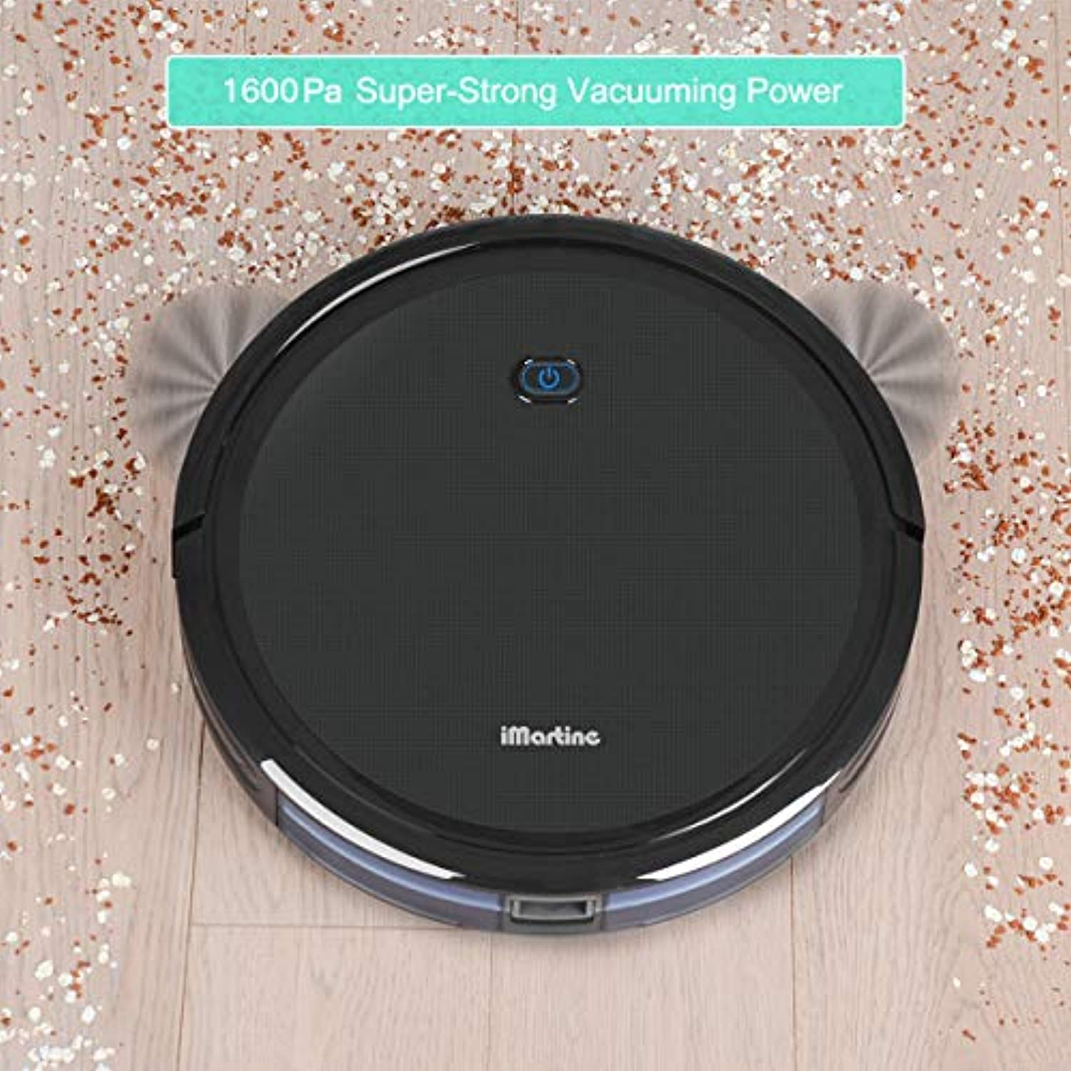 Classier: Buy iMartine Robot Vacuum Cleaner, iMartine 1600Pa Strong Suction Robotic Vacuum Cleaner, Super-Thin Quiet, Up to 120mins Runtime Automatic Self-Charging Robot Vacuum for Pet Hair Hard Floor to Medium-Pile