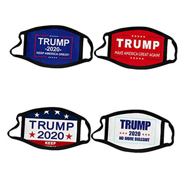 Classier: Buy Donald J. Trump Trump Face Mask 4-PACK | Reusable & Washable Anti Dust Mouth Fashion Balaclava Cover | Breathable Bandanna with Carbon Filter Slot | MAGA KAG TRUMP 2020 (1)