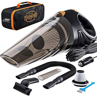 Classier: Buy ThisWorx for Portable Car Vacuum Cleaner: High Power Corded Handheld Vacuum w/ 16 foot cable - 12V - Best Car & Auto Accessories Kit for Detailing and Cleaning Car Interior