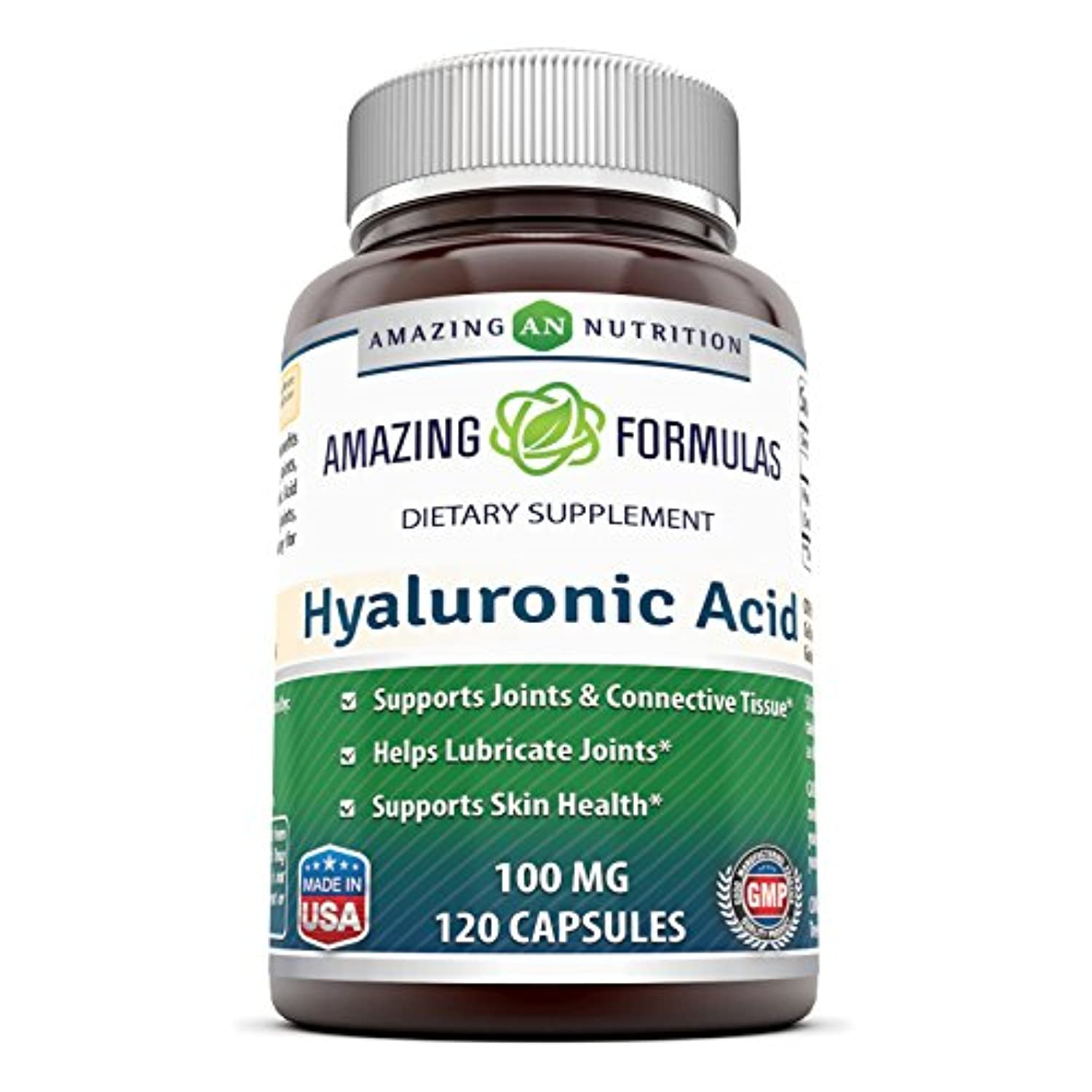 Classier: Buy Amazing Nutrition Amazing Formulas Hyaluronic Acid 100 mg 120 Capsules (Non-GMO,Gluten Free) - Support Healthy Connective Tissue and Joints - Promote Youthful Healthy Skin