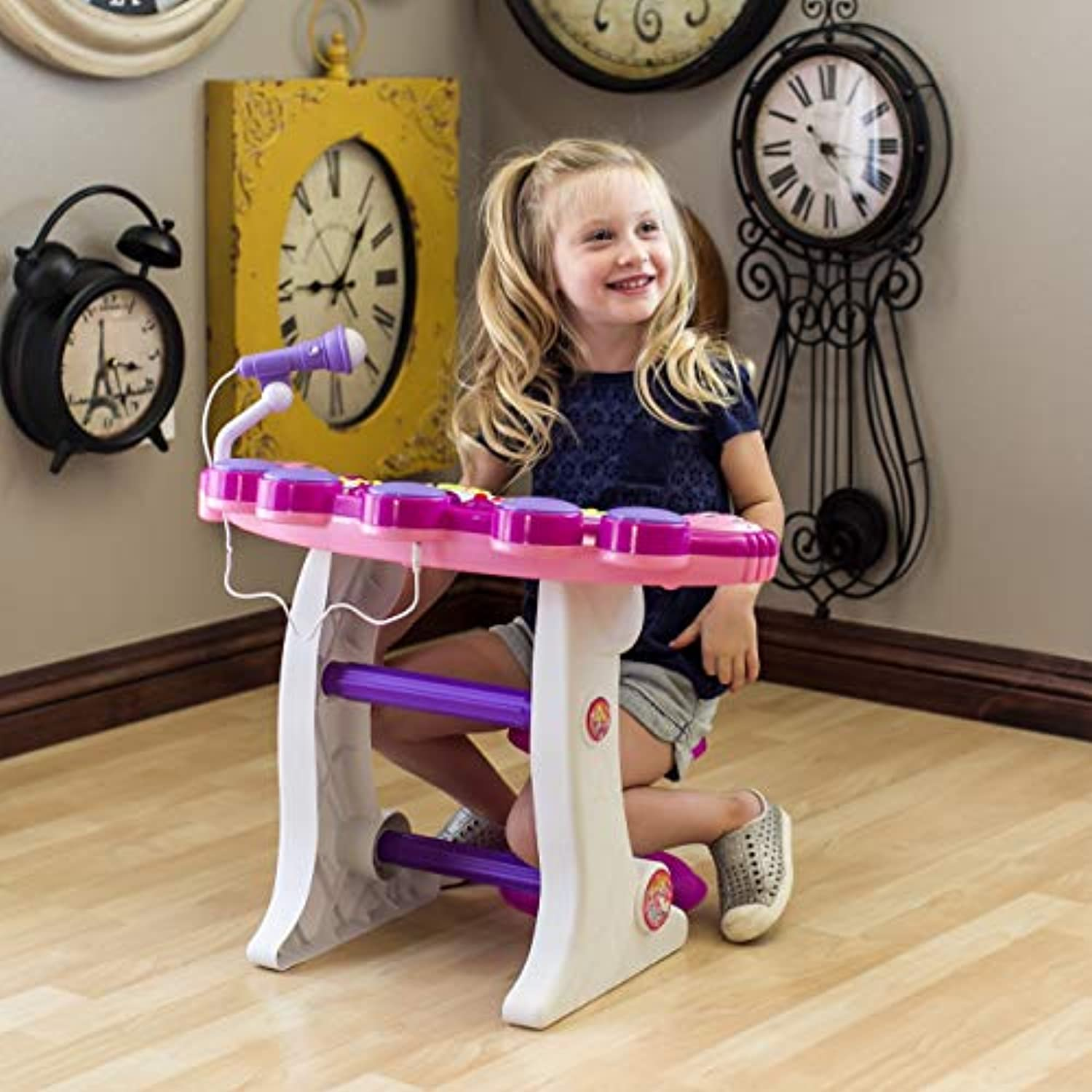 Classier: Buy Best Choice Products Best Choice Products 37-Key Kids Electronic Piano Keyboard w/ Record and Playback, Microphone, Synthesizer, Stool - Pink