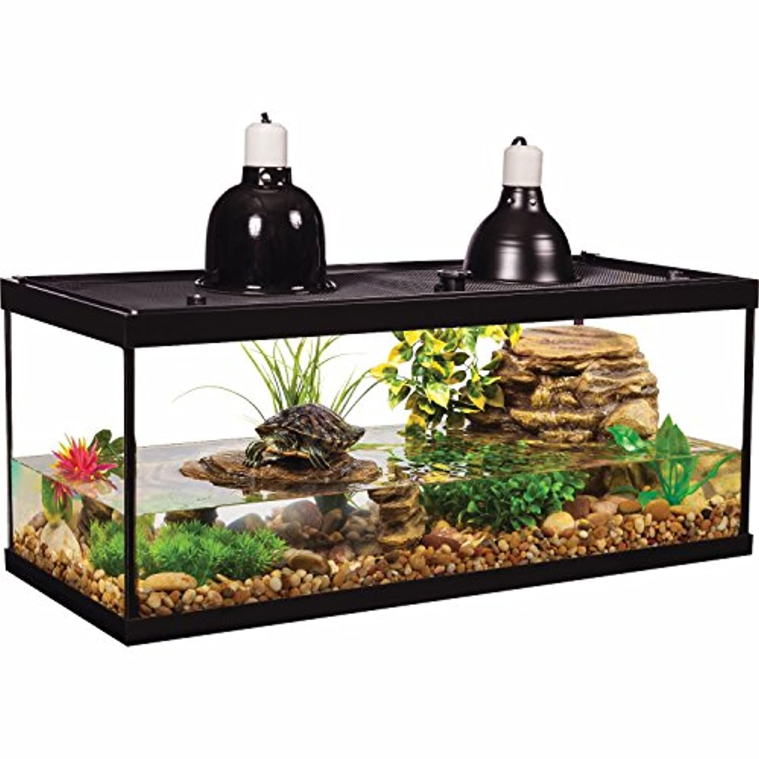 Classier: Buy Tetra Tetra Aquatic Turtle Deluxe Kit 20 Gallons, aquarium With Filter And Heating Lamps, 30 IN (NV33230)