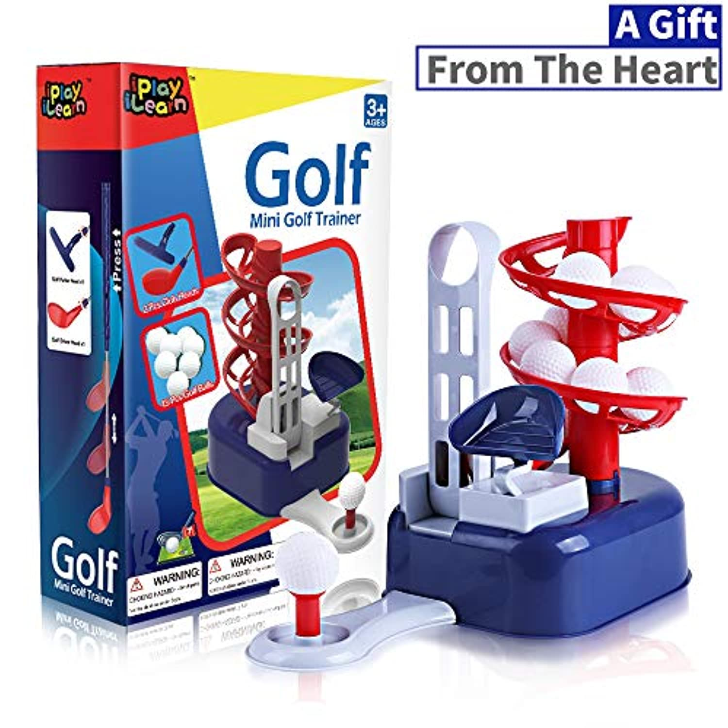 Classier: Buy iPlay, iLearn iPlay, iLearn Kids Golf Toys Set, Outdoor Lawn Sport Toy, Training Golf Balls & Clubs Equipment, Indoor Exercise, Outside Yard Active Gifts for 3 4 5 6 7 8 Year Olds Boys Toddlers Children Girls