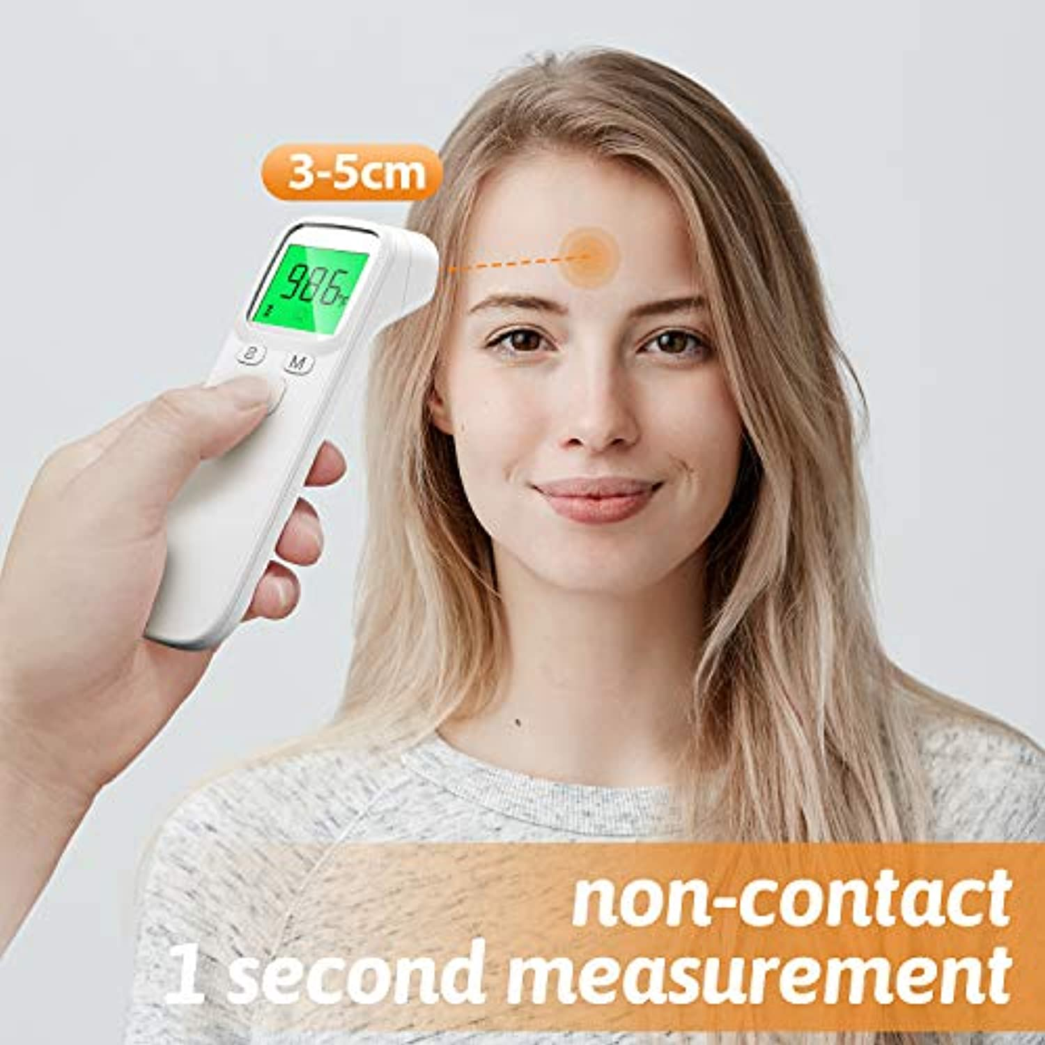 Classier: Buy FACEIL Thermometer for Fever, Non-Contact Forehead Thermometer with Object Mode Function
