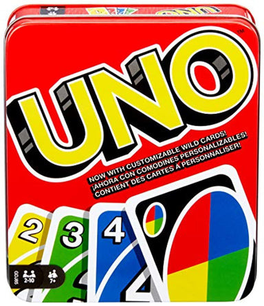 Classier: Buy Mattel Games Mattel Games UNO: Family Card Game, with 112 Cards in a Sturdy Storage Tin, Travel-Friendly, Makes a Great Gift for 7 Year Olds and Up [Amazon Exclusive] (GDJ85)