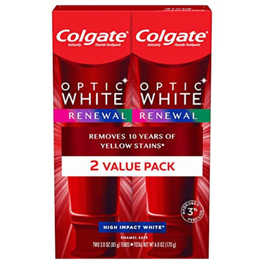 Classier: Buy Colgate Colgate Optic White Renewal Teeth Whitening Toothpaste, High Impact White - 3 Ounce (2 Pack)