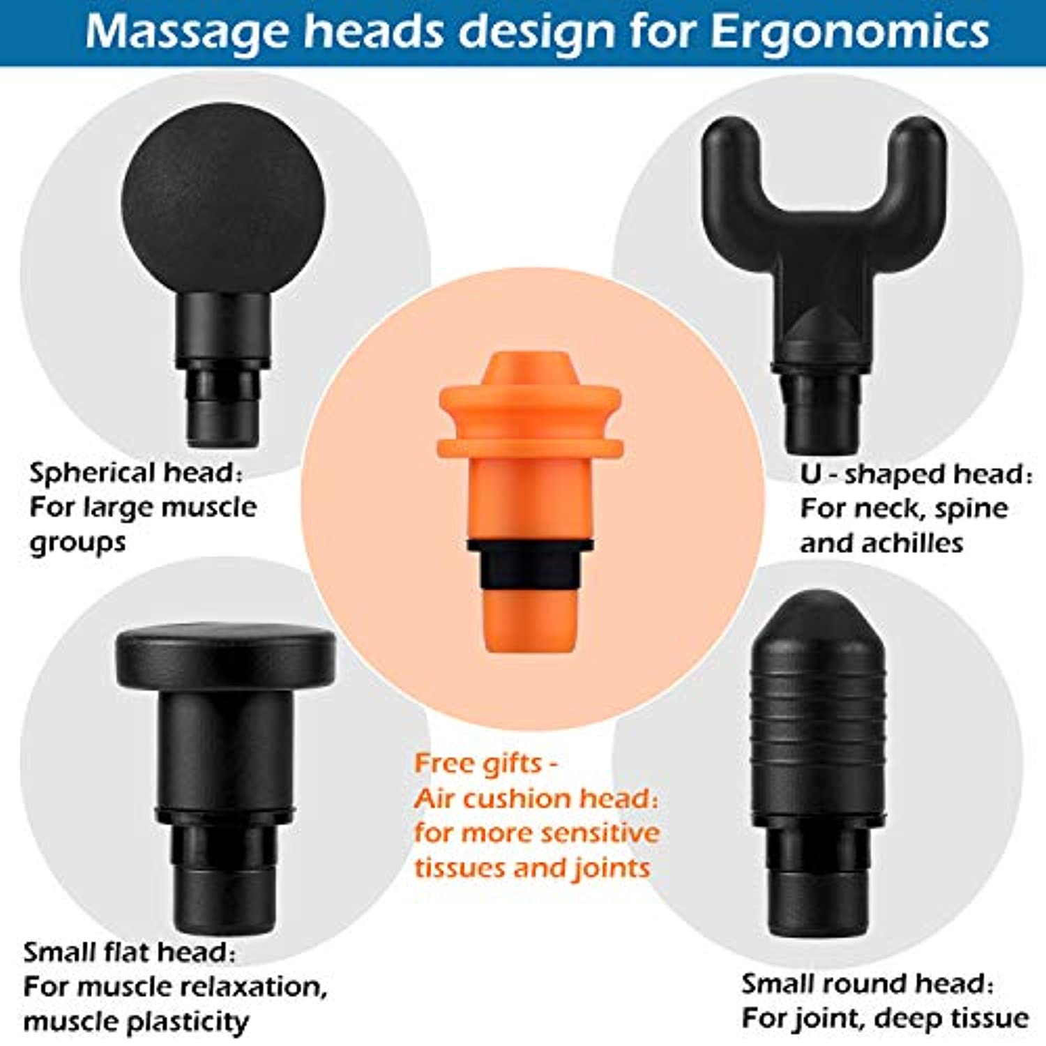 Classier: Buy WuBeFine Massage Gun,Handheld Deep Muscle Massager,Cordless Vibration Massage Device Helps Relieve Muscle Soreness and Stiffness
