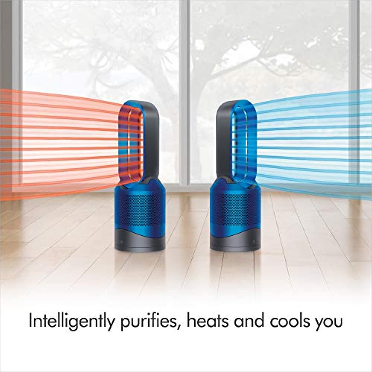 Classier: Buy Dyson Dyson Pure Hot + Cool, HP02 - HEPA Air Purifier, Space Heater & Fan, WiFi-Enabled, For Large Rooms, Automatically Removes Allergens, Pollutants, Dust, Mold, VOCs, Blue