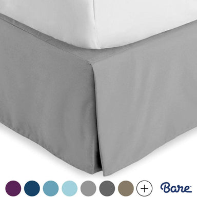 Classier: Buy Bare Home Bare Home Kids Bed Skirt Double Brushed Premium Microfiber, 15-Inch Tailored Drop Pleated Dust Ruffle, 1800 Ultra-Soft, Shrink and Fade Resistant (Twin XL, Light Grey)