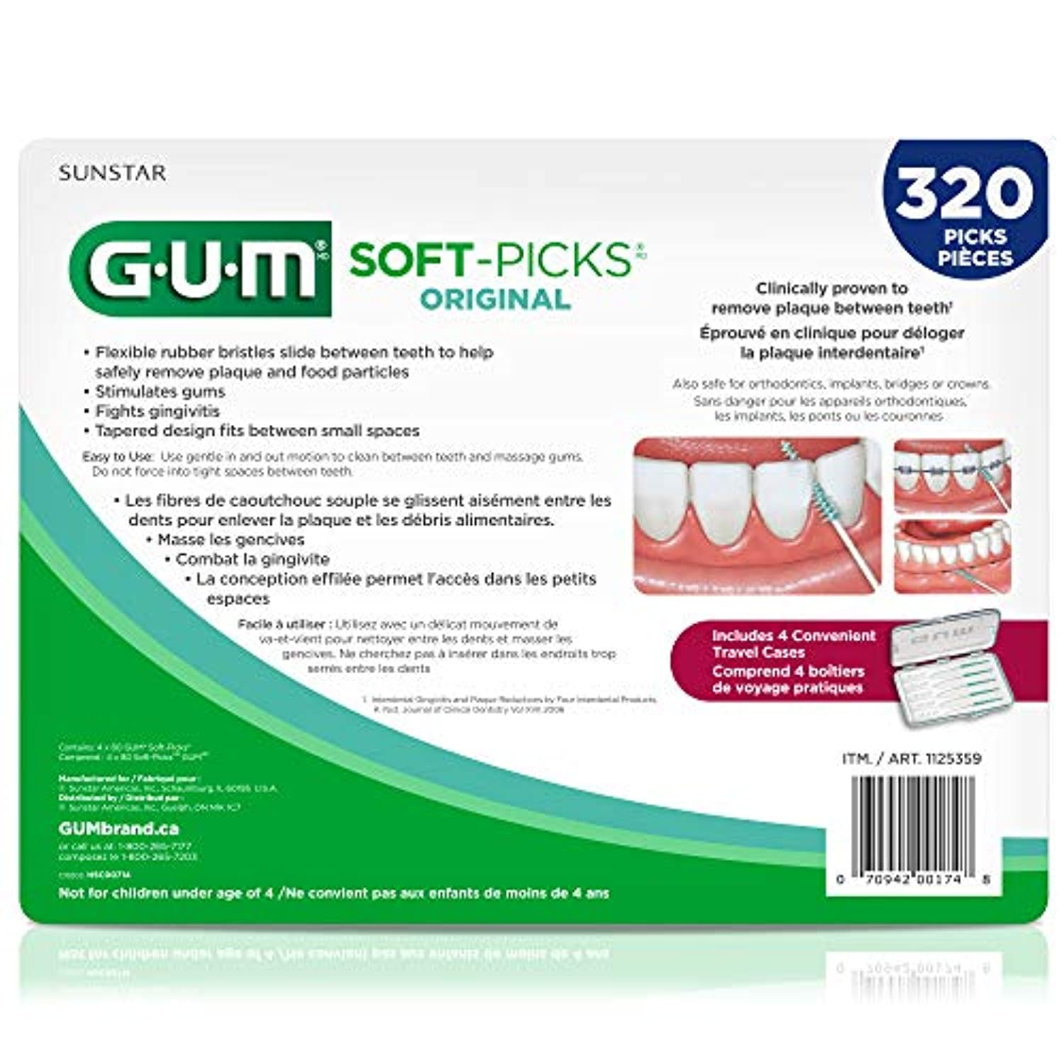 Classier: Buy GUM GUM Soft-Picks Original Dental Picks, 320 Count