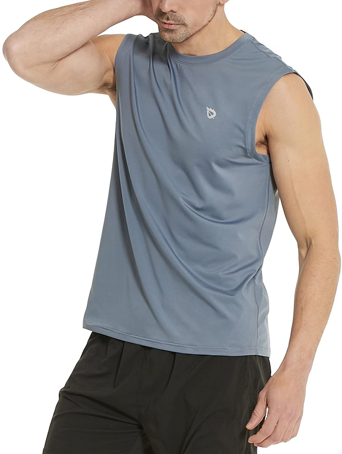 Classier: Buy BALEAF BALEAF Men's Sleeveless Tank Top Quick Dry Muscle t Shirts Gym Workout Bodybuilding Running Tech Tops