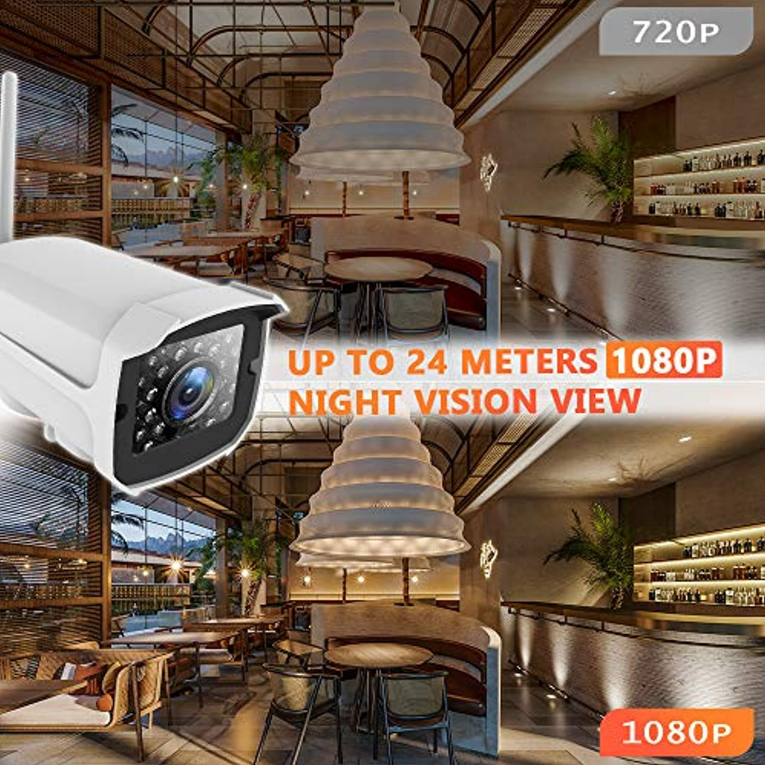 Classier: Buy AMICCOM Outdoor Security Camera, 1080P WiFi Camera Surveillance Cameras, IP Camera with Two-Way Audio, IP66 Waterproof, Night Vision, Motion Detection, Activity Alert, Deterrent Alarm - iOS, Android