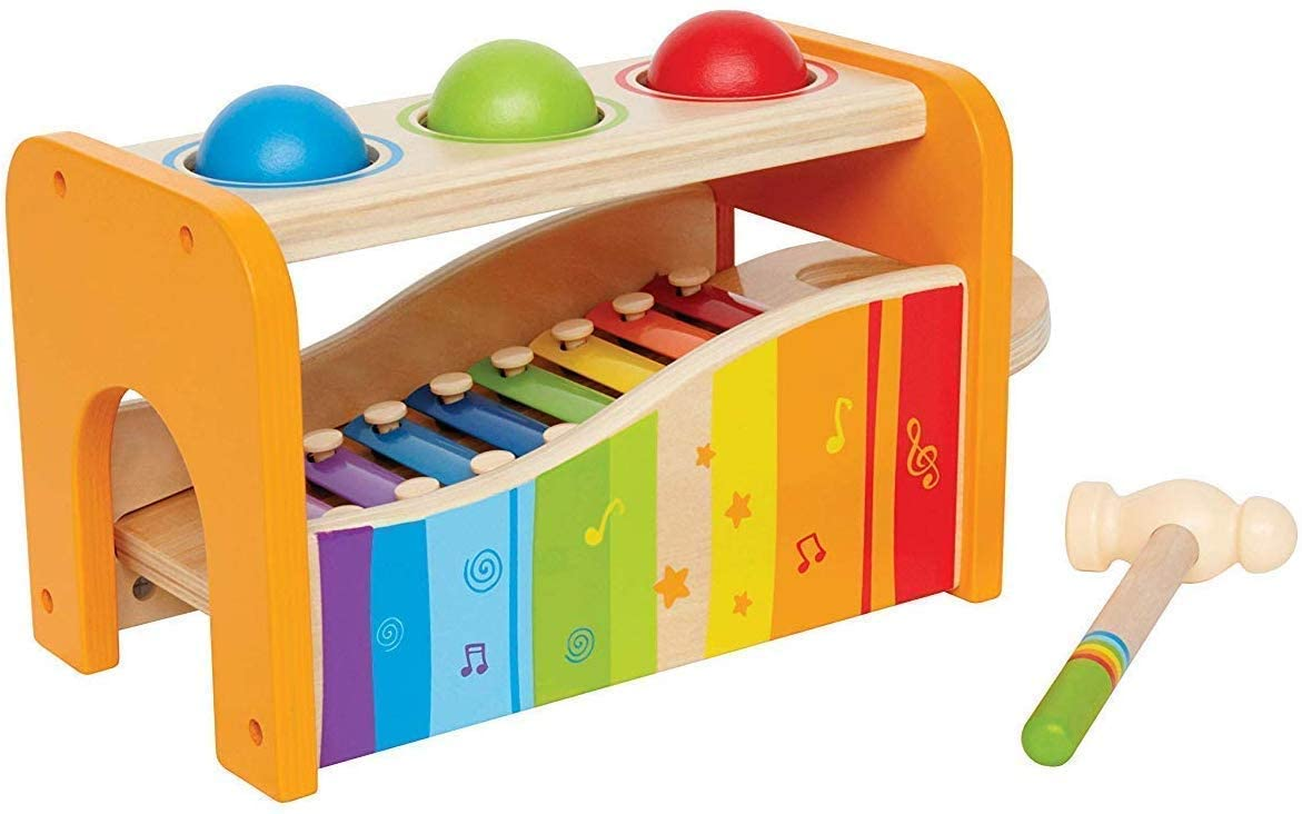 Classier: Buy Hape Hape Pound & Tap Bench with Slide Out Xylophone - Award Winning Durable Wooden Musical Pounding Toy for Toddlers, Multifunctional and Bright Colours, Yellow