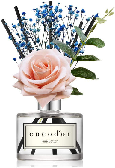 Classier: Buy Cocod'or Cocod'or Rose Flower Reed Diffuser, Pure Cotton Reed Diffuser, Reed Diffuser Set, Oil Diffuser & Reed Diffuser Sticks, Home Decor & Office Decor, Fragrance and Gifts, 6.7oz