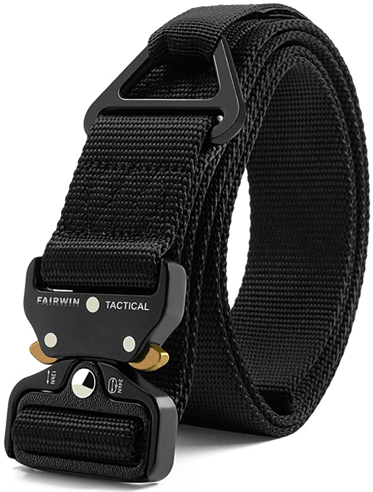 Classier: Buy Fairwin Fairwin Tactical Rigger Belt, Nylon Webbing Waist Belt with V-ring Heavy-Duty Quick-Release Buckle