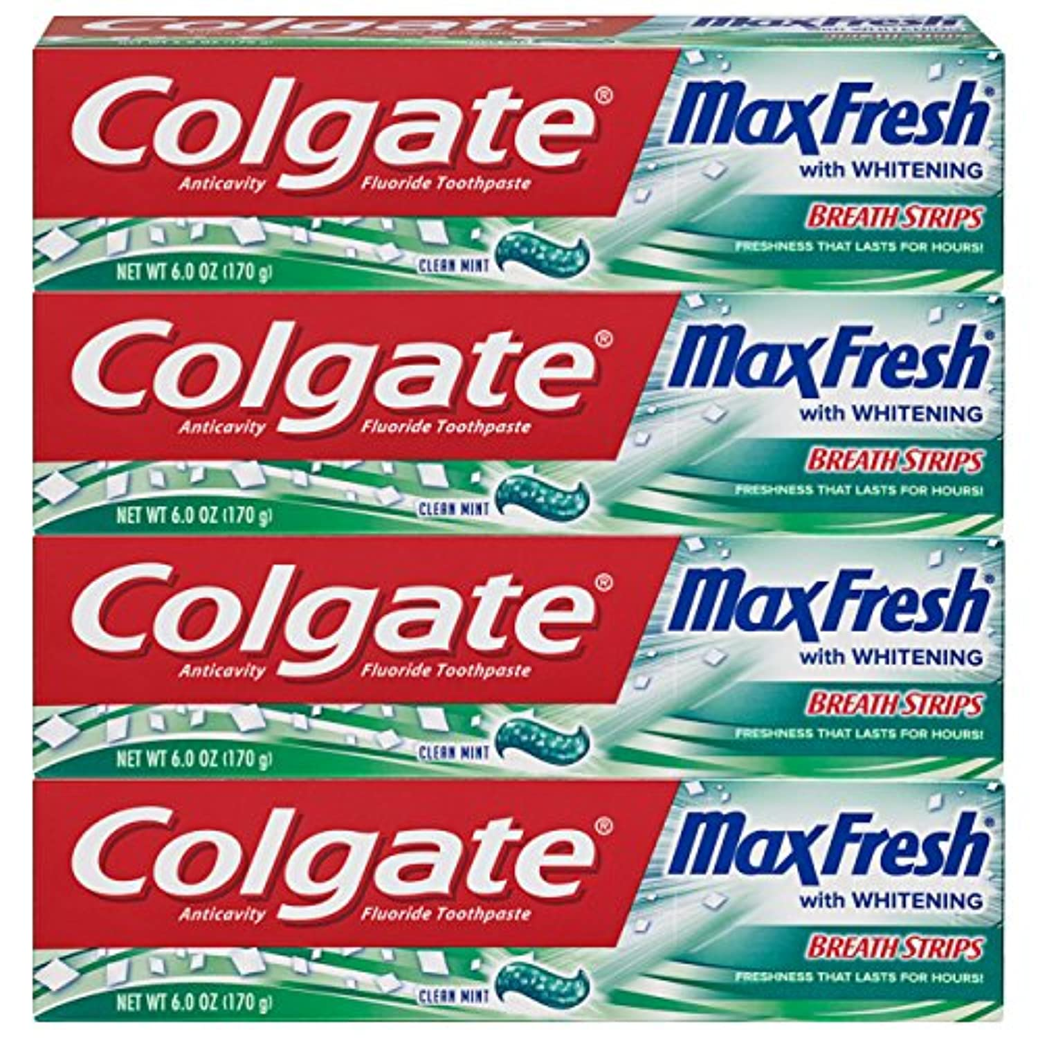 Classier: Buy Colgate Colgate Max Fresh Clean Mint Toothpaste with Mini Breath Strips, 4 Count