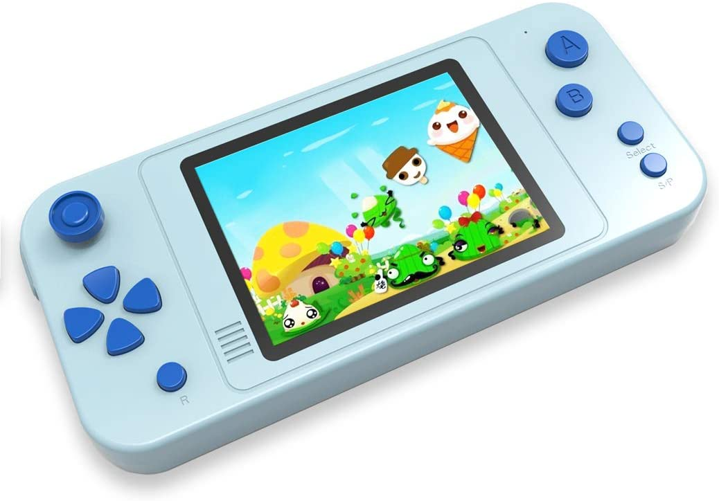 "Classier: Buy Beico Beico Handheld Games for Kids with Built in 218 Classic Retro Video Game 3.5"" Big Screen Portable Rechargeable Arcade Gaming Player Boys Girls Birthday Gift (Alice Blue)"