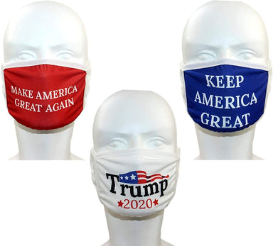 Classier: Buy Donald J. Trump Trump Face Mask 3-PACK | Safety Reusable & Washable Anti Dust Mouth Fashion Balaclava Cover | Breathable Bandanna with Carbon Filter Slot | MAGA KAG TRUMP 2020 | Men Women BEWARE OF COUNTERFEIT SELLERS