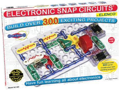 Classier: Buy Snap Circuits Snap Circuits Classic SC-300 Electronics Exploration Kit | Over 300 Projects | Full Color Project Manual | 60+ Snap Circuits Parts | STEM Educational Toy for Kids 8+,Black,2.3 x 13.6 x 19.3 inches