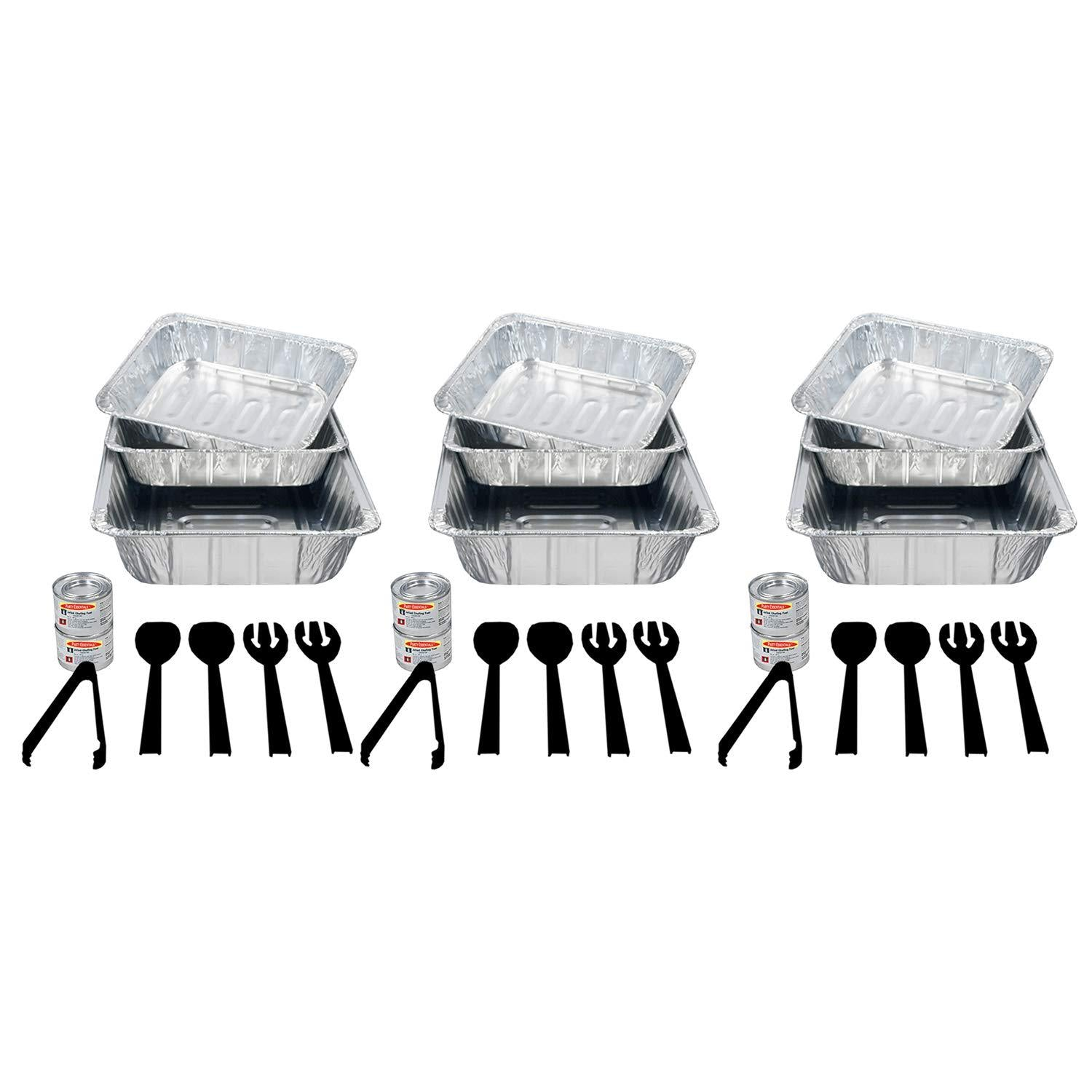 Classier: Buy Party Essentials Party Essentials 30 Piece Party Serving Refill Kit, Includes Aluminum pans, Methanol Fuel and Serving Utensils (Racks are NOT included) (N30)