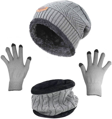 Classier: Buy HINDAWI Winter Beanie Hat Scarf Gloves Slouchy Snow Knit Skull Cap Infinity Scarves Touch Screen Mittens for Women