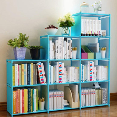 Classier: Buy Clewiltess Clewiltess 9 Cube DIY Storage Bookcase,Bookshelf for Kids,Home Furniture Storage Shelves Closet Organizer Rack Cabinet for Bedroom Living Room (Blue)