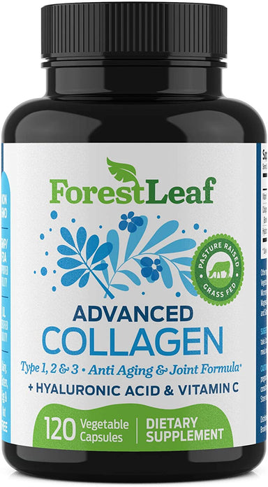 Classier: Buy ForestLeaf Advanced Collagen Supplement, Type 1, 2 and 3 with Hyaluronic Acid and Vitamin C