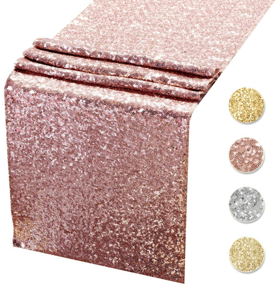 Classier: Buy Acrabros Sequin Table Runners CHAMPAGNE GOLD- 12 X 108 Inch Glitter CHAMPAGNE GOLD Table Runner-CHAMPAGNE GOLD Party Supplies Fabric Decorations For Wedding Birthday
