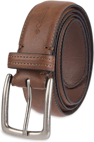 Classier: Buy Columbia Columbia Men's Casual Leather Belt -Trinity Style for Jeans Khakis Dress Leather Strap Silver Prong Buckle Belt