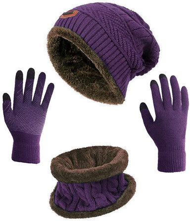 Classier: Buy HINDAWI HINDAWI Winter Slouchy Beanie Gloves for Women Knit Hats Skull Caps Touch Screen