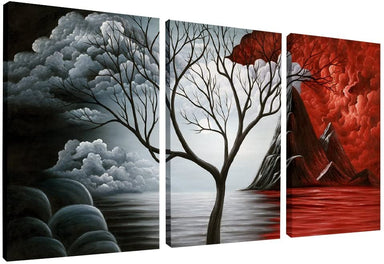 Classier: Buy Wieco Art Wieco Art The Cloud Tree Wall Art Oil PaintingS Giclee Landscape Canvas Prints for Home Decorations, 3 Panels