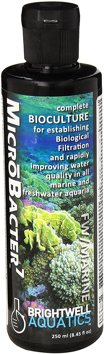 Classier: Buy Brightwell Aquatics Brightwell Aquatics MicroBacter7, Bacteria & Water Conditioner for Fish Tank or Aquarium, Populates Biological Filter Media for Saltwater and Freshwater Fish