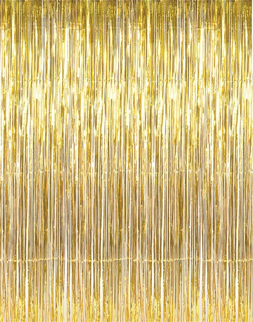 Classier: Buy GOER GOER 3.2 ft x 9.8 ft Metallic Tinsel Foil Fringe Curtains for Party Photo Backdrop Wedding Decor (1 Pack, Red)