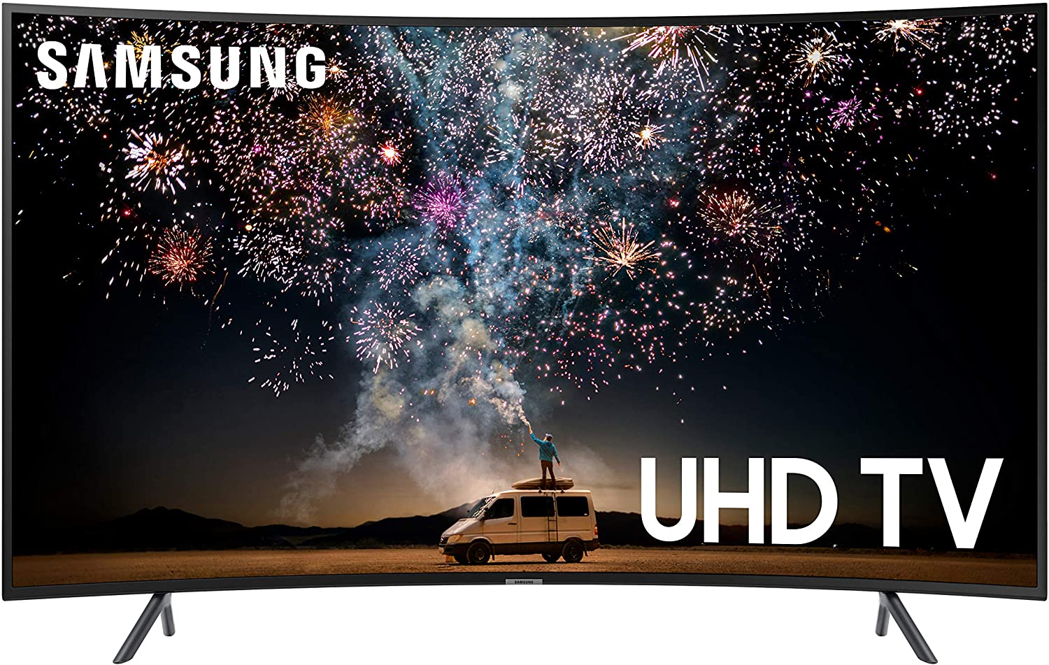 Classier: Buy SAMSUNG Samsung UN55RU7300FXZA Curved 55-Inch 4K UHD 7 Series Ultra HD Smart TV with HDR and Alexa Compatibility (2019 Model)