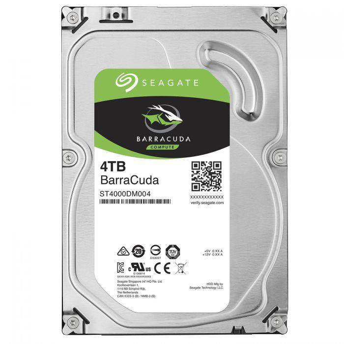 Seagate 4TB BarraCuda 3.5 5400RPM 256MB SATA3 Hard Drive