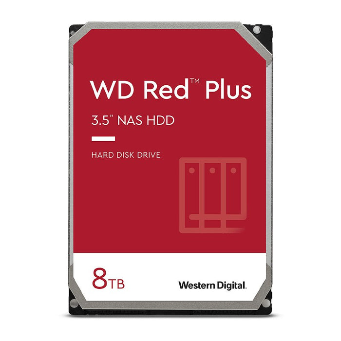 WD 8TB Red Plus 3.5 7200RPM 256MB IntelliPower SATA3 NAS Hard Drive