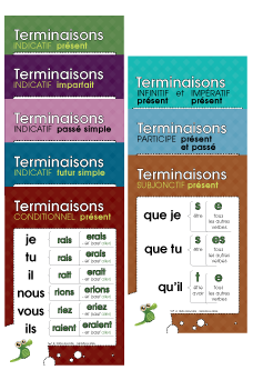 Terminaisons (Temps simples) - Ensemble de 10 affiches