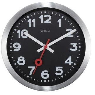 Clock Nextime Station Arabic Numerals 19cm Black