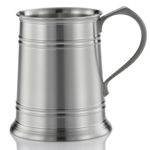 Tankard Straight Sided Large Pewter 560ml
